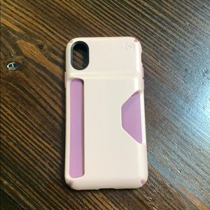 Speck X Iphone case with card holder